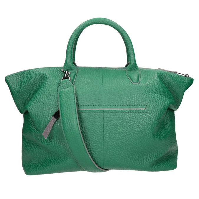 Kožená zelená kabelka bree, zelená, 966-7014 - 16