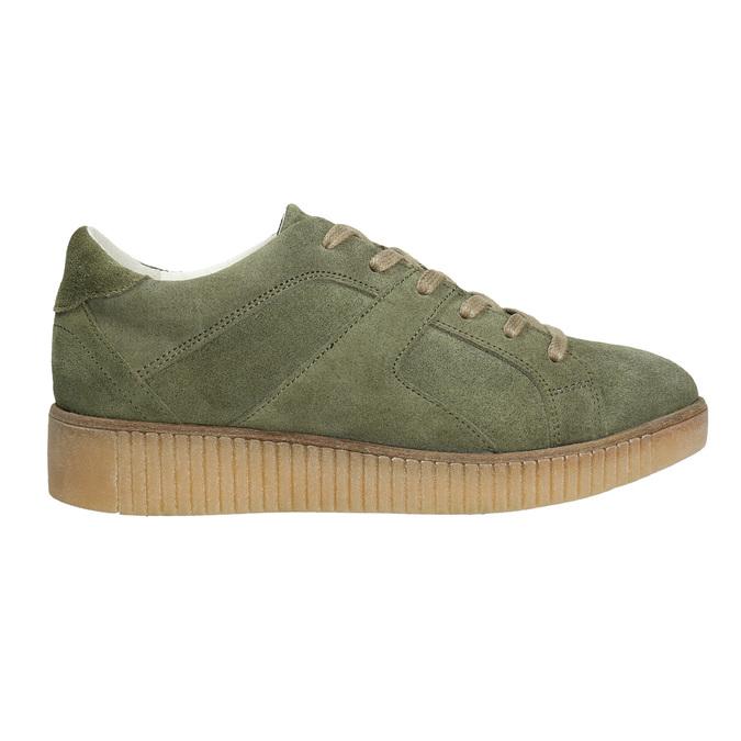Dámské kožené khaki tenisky bata, zelená, 523-7604 - 15