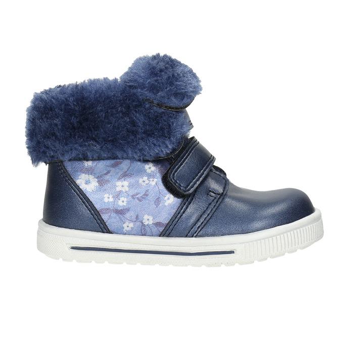 Dívčí obuv s kožešinou bubblegummers, modrá, 121-9621 - 15