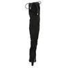 Kozačky nad kolena na podpatku insolia, černá, 799-6618 - 17
