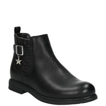 Dětská Chelsea obuv se třpytkami mini-b, černá, 321-6613 - 13