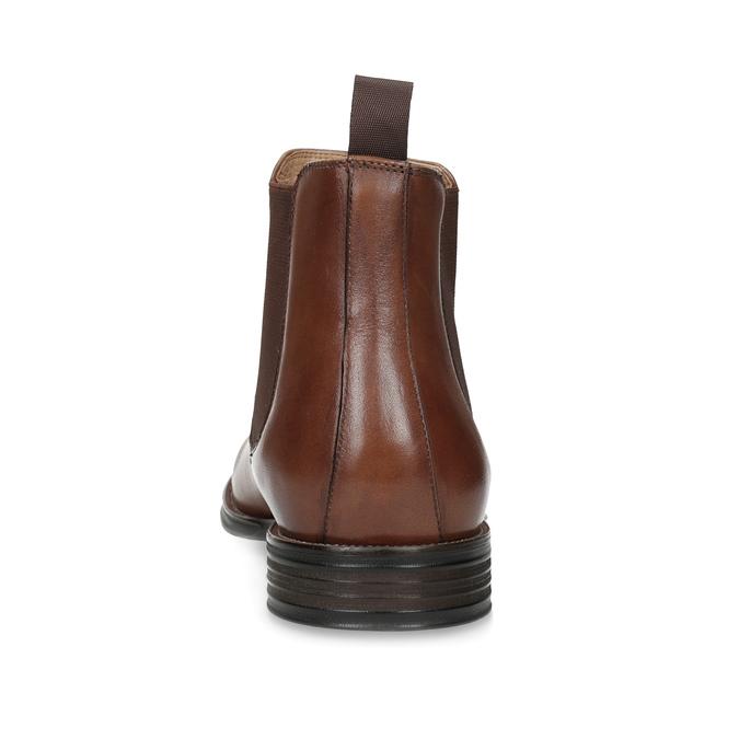 Hnědé kožené Chelsea Boots bata, hnědá, 896-3400 - 15