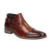 Kožená kotníčková obuv s přezkou bugatti, hnědá, 816-3043 - 13