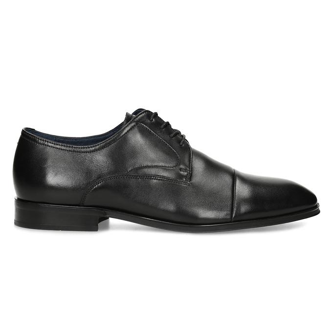 Pánské kožené černé Derby polobotky bata, černá, 824-6406 - 19