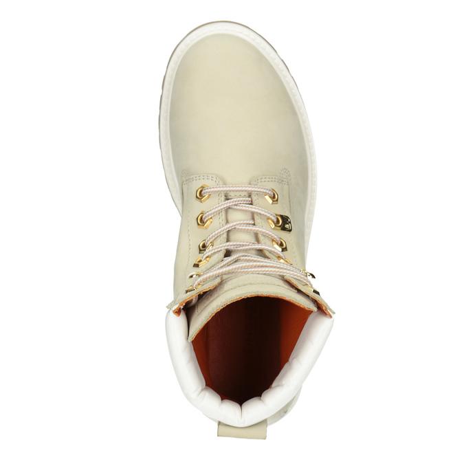Kožená dámská kotníčková obuv weinbrenner, béžová, 596-1667 - 15