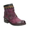 Kožená kotníčková obuv a-s-98, fialová, 516-5093 - 13