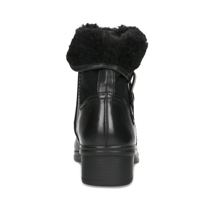 Dámská zimní obuv gabor, černá, 614-6127 - 15