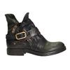 Kožená kotníčková obuv s přezkou a-s-98, zelená, 516-3092 - 26