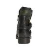Kožená kotníčková obuv s přezkou a-s-98, zelená, 516-3092 - 16