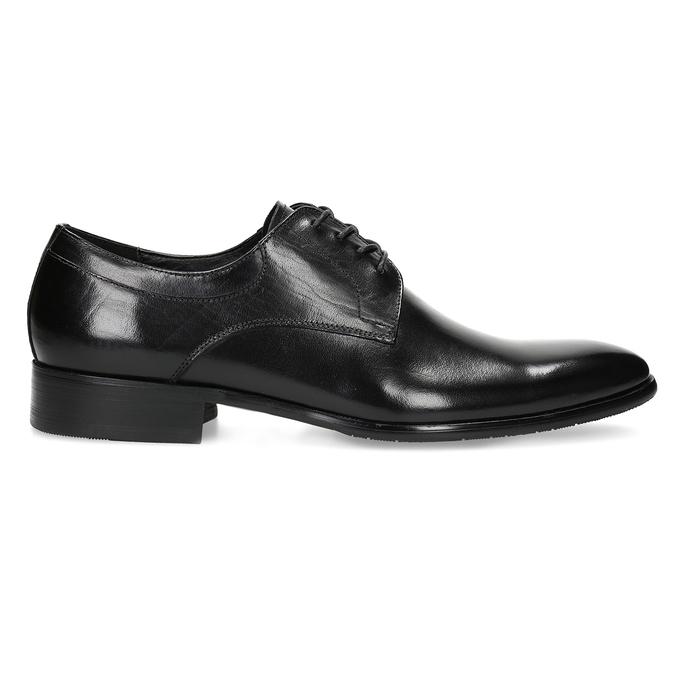Pánské kožené Derby polobotky bata, černá, 824-6233 - 19