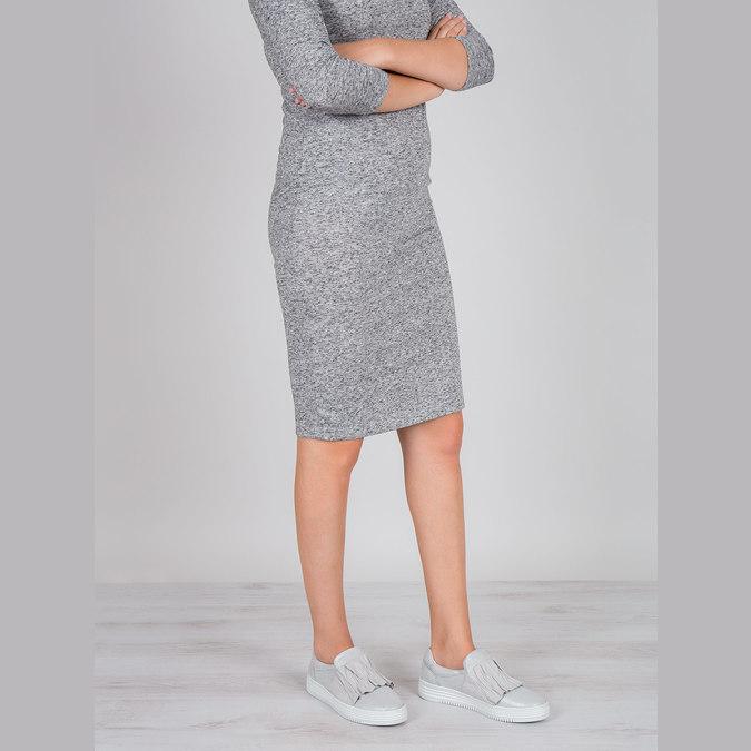 Dámská kožená Slip-on obuv bata, šedá, 516-1614 - 18
