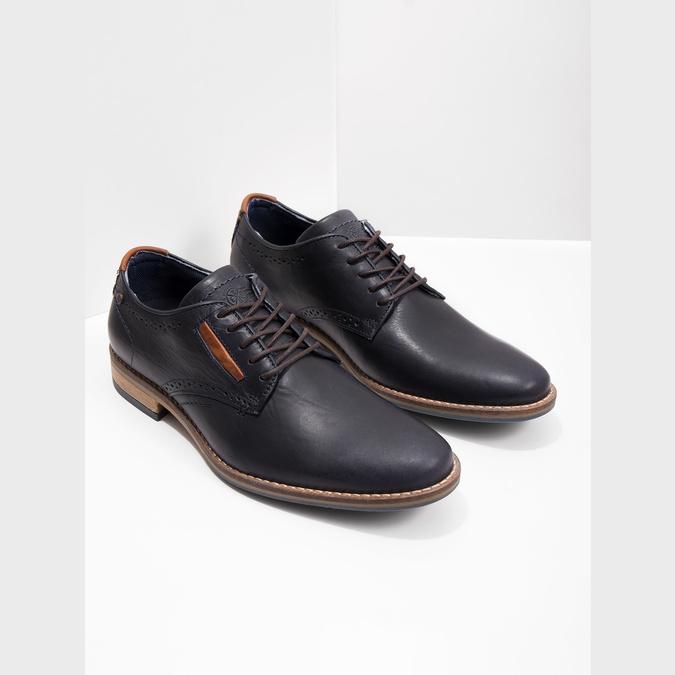 Neformální kožené polobotky bata, modrá, 826-9910 - 18
