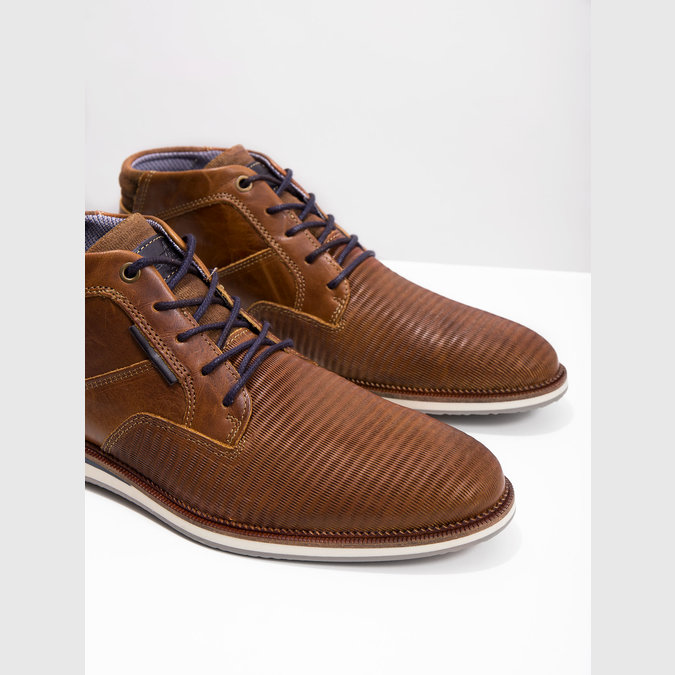 Ležérní kotníková obuv kožená bata, hnědá, 826-3912 - 18