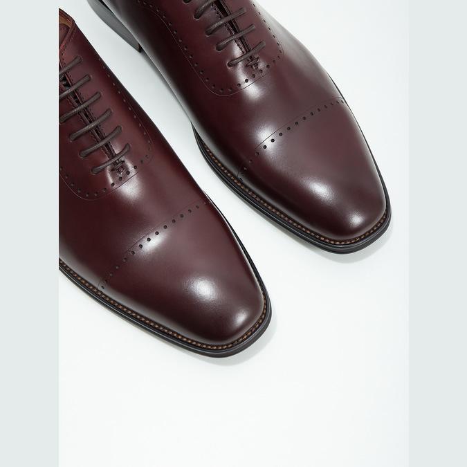 Pánské kožené Oxford polobotky bata, červená, 826-5683 - 14