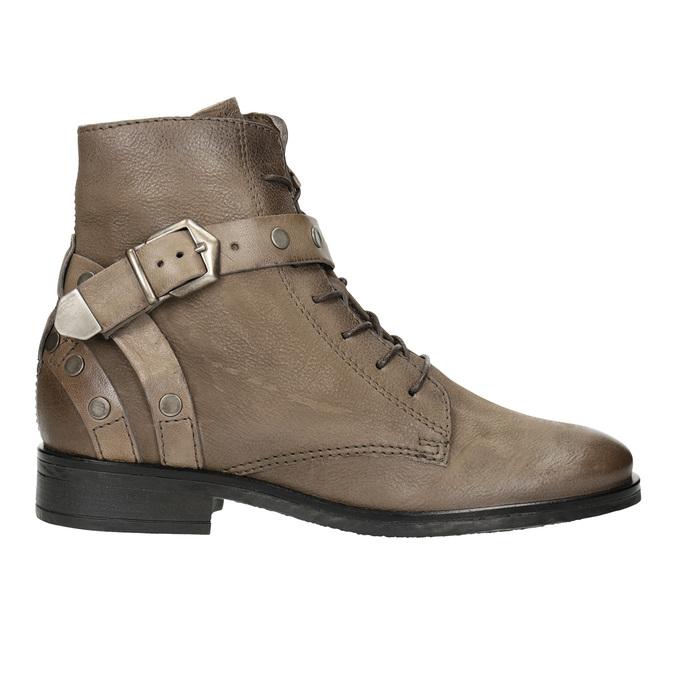 Kotníčková dámská obuv s přezkami bata, hnědá, 596-4661 - 26
