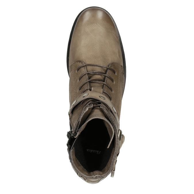 Kotníčková dámská obuv s přezkami bata, hnědá, 596-4661 - 15