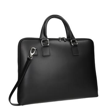 Kožená taška s odnímatelným popruhem bata, černá, 964-6223 - 13