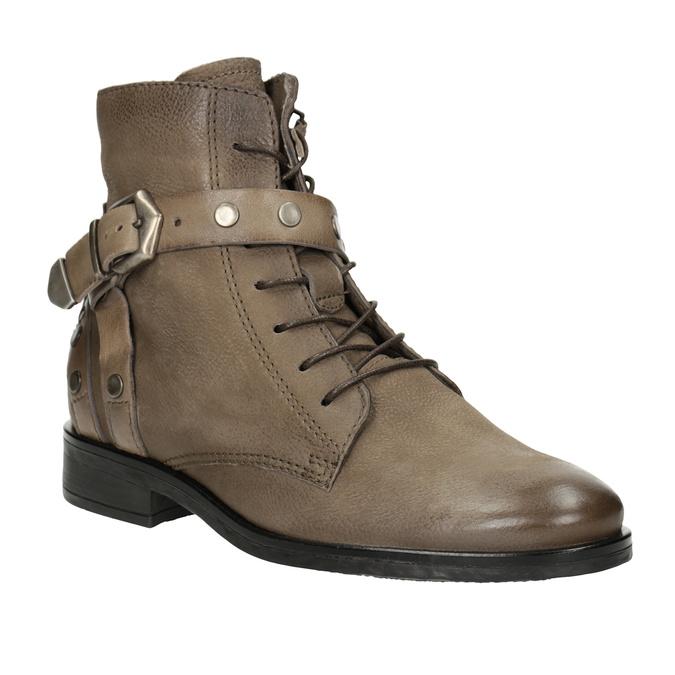 Kotníčková dámská obuv s přezkami bata, hnědá, 596-4661 - 13
