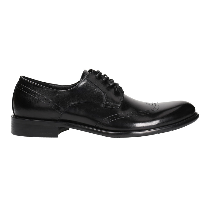 Pánské kožené Brogue polobotky bata, černá, 824-6227 - 15