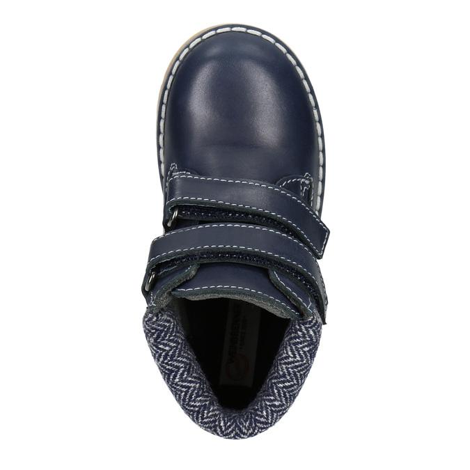 Dětská kožená kotníčková obuv weinbrenner-junior, modrá, 216-9200 - 15