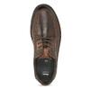 Kožené pánské ležérní polobotky s prošitím bata, hnědá, 826-4917 - 17