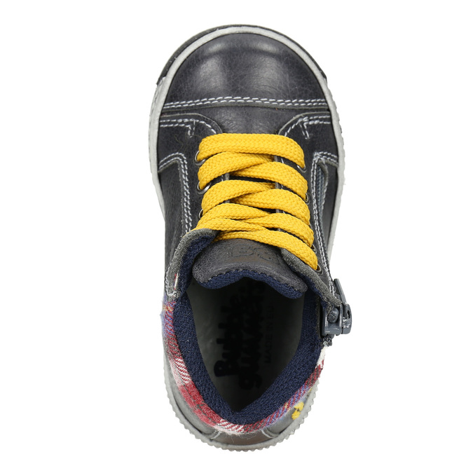 Dětská kožená kotníčková obuv bubblegummers, šedá, 114-2603 - 15