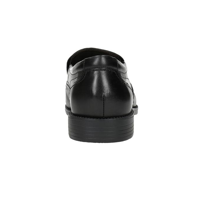 Kožené pánské Loafers fluchos, černá, 814-6443 - 16