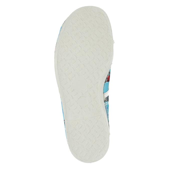 Dětská domácí obuv s autíčky bata, modrá, 279-9105 - 17