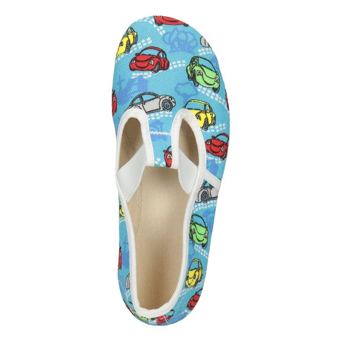 Dětská domácí obuv s autíčky bata, modrá, 279-9105 - 15