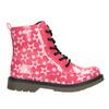 Dívčí šněrovací obuv s hvězdičkami mini-b, růžová, 291-5167 - 26