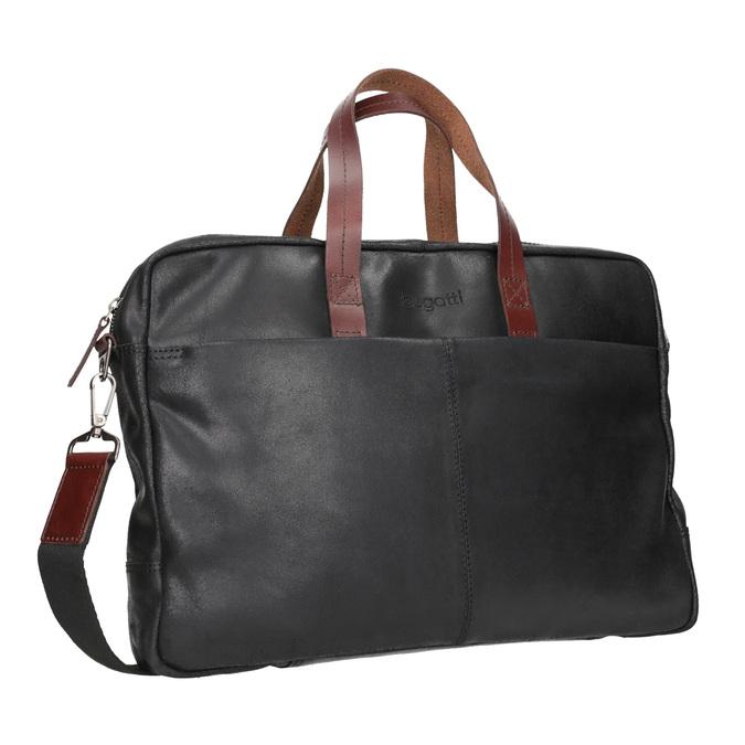 Kožená pánská aktovka bugatti-bags, černá, 964-6019 - 13