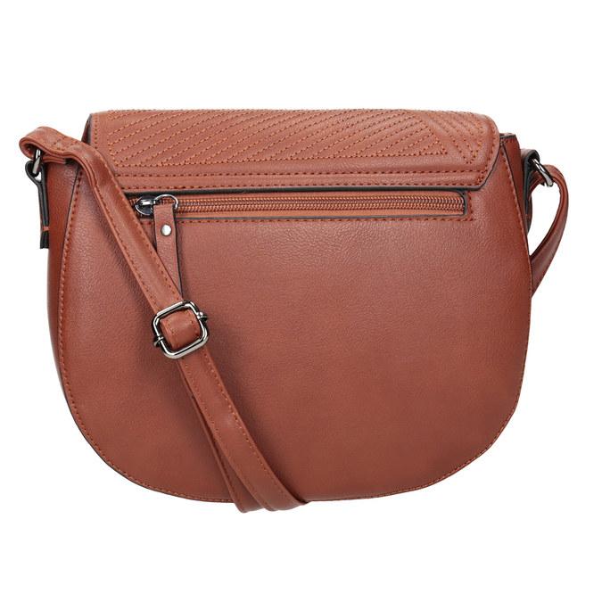 Dámská kabelka s prošitím gabor-bags, hnědá, 961-3055 - 16