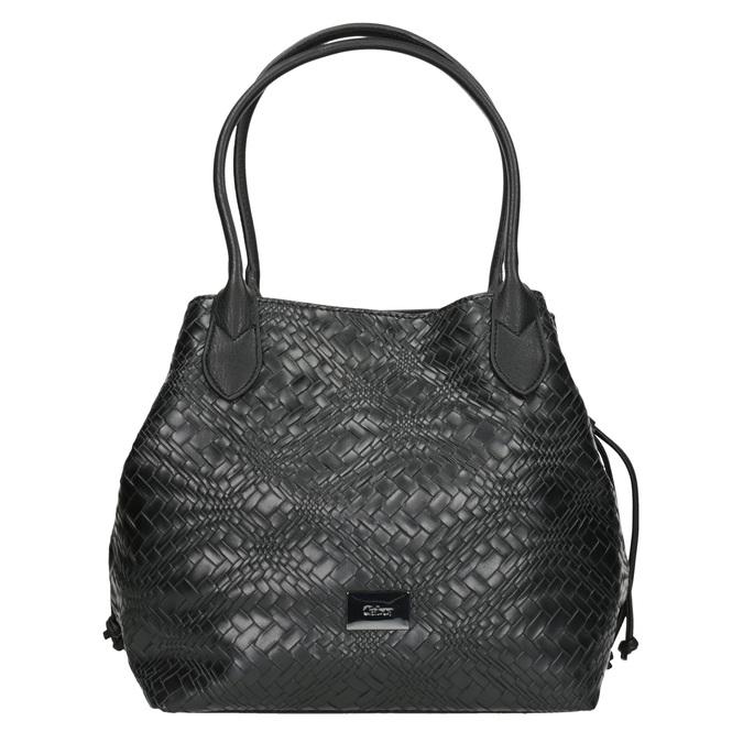 Dámská kabelka se strukturou gabor-bags, černá, 961-6053 - 26