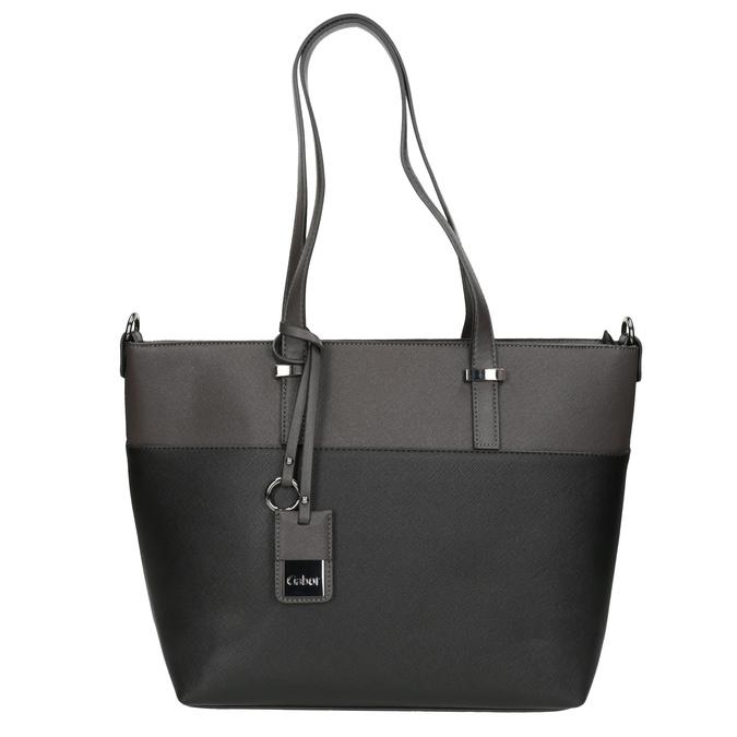 Dámská kabelka s popruhem gabor-bags, šedá, 961-2037 - 26