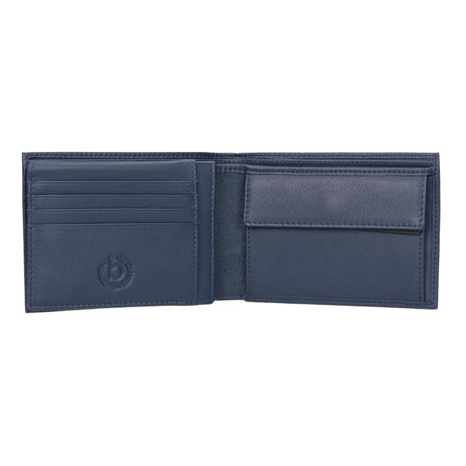 Modrá kožená peněženka bugatti-bags, modrá, 944-9051 - 15