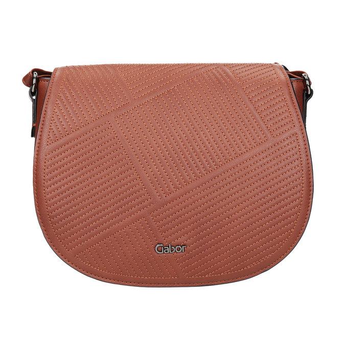 Dámská kabelka s prošitím gabor-bags, hnědá, 961-3055 - 26