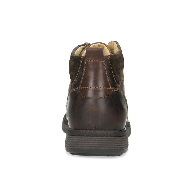 Pánská kožená kotníková obuv s prošitím bata, hnědá, 846-4645 - 15