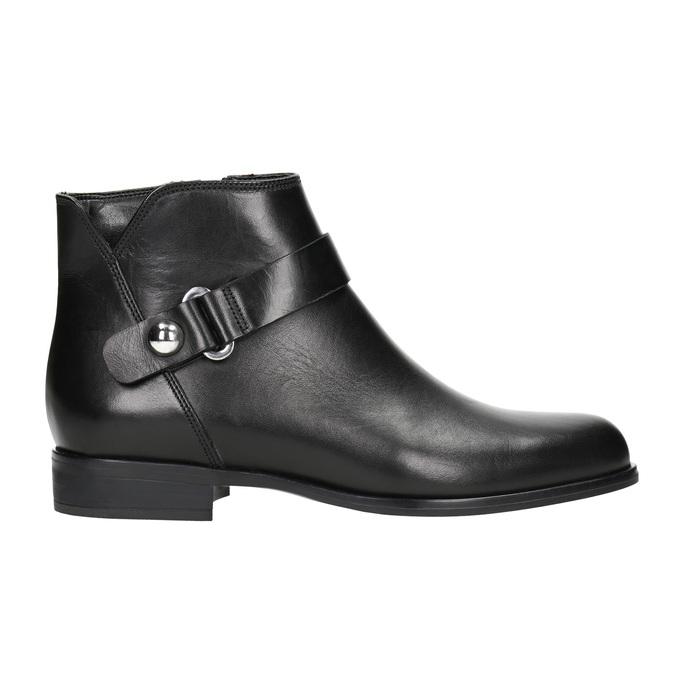 Kožená kotníčková obuv černá bata, černá, 596-6669 - 26