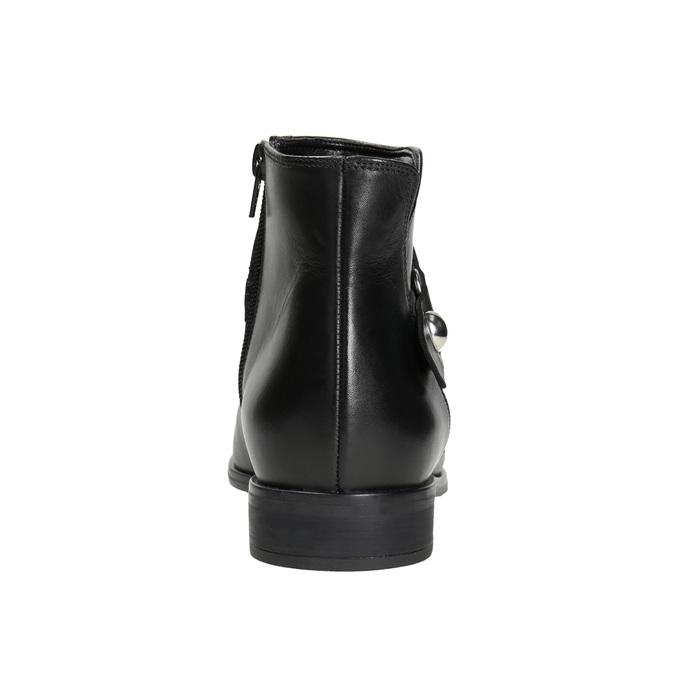 Kožená kotníčková obuv černá bata, černá, 596-6669 - 16