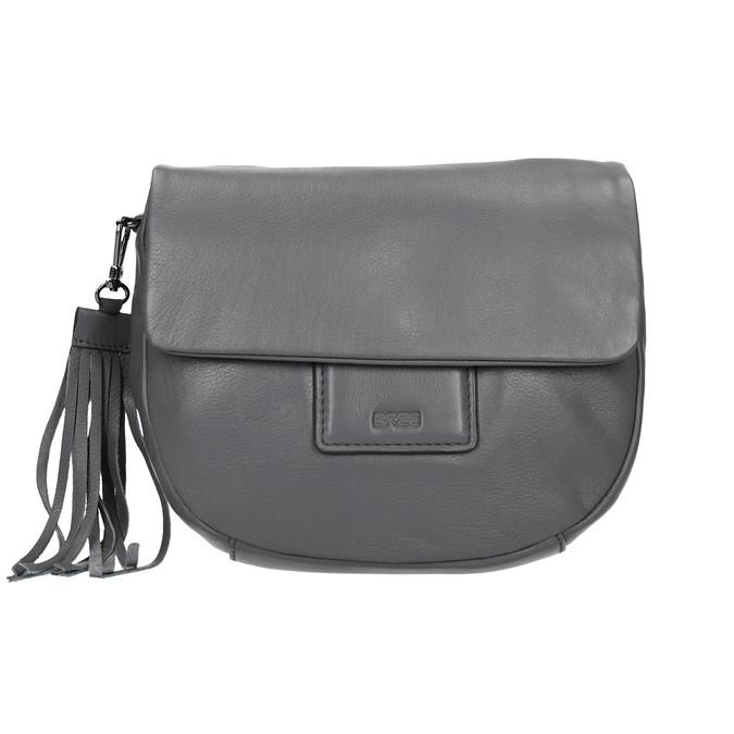 Šedá kožená kabelka se střapcem bree, šedá, 964-4040 - 26