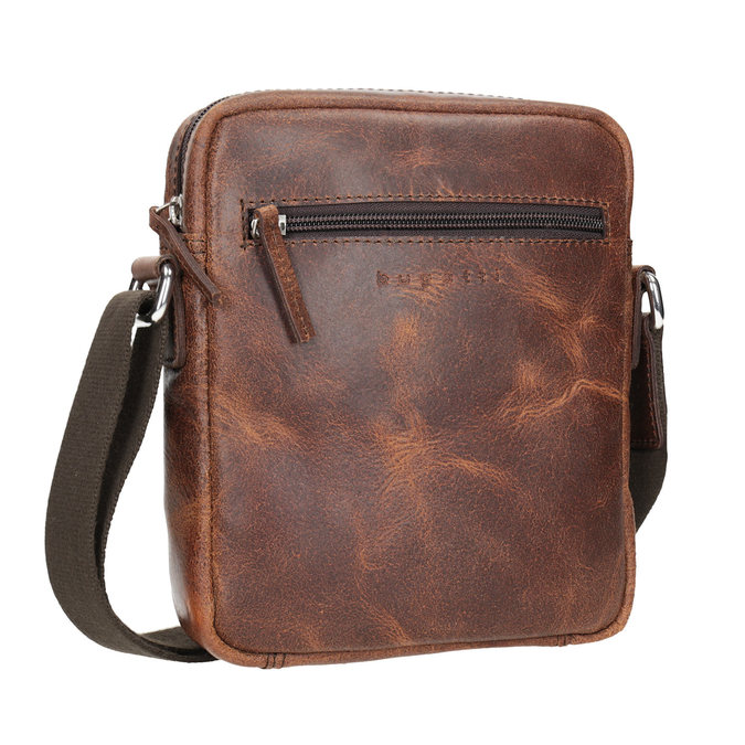 Kožená pánská Crossbody taška bugatti-bags, hnědá, 964-3016 - 13
