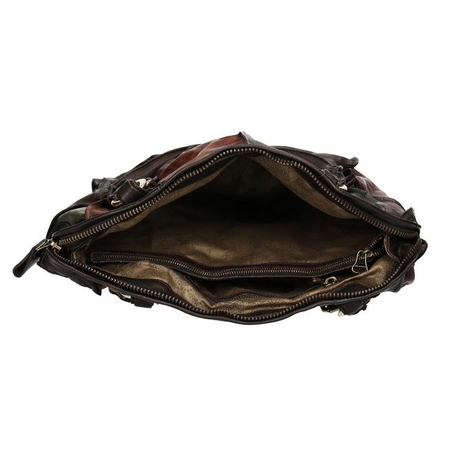 Kožená kabelka ve stylu Patchwork a-s-98, vícebarevné, 966-0062 - 15
