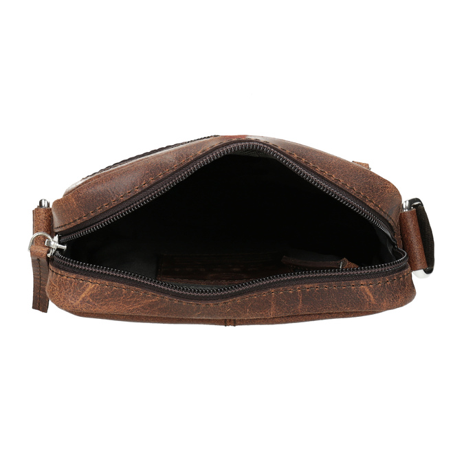 Kožená pánská Crossbody taška bugatti-bags, hnědá, 964-3016 - 15