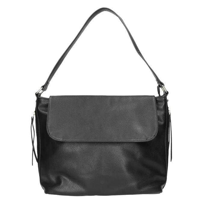 Černá kabelka s klopou bata, černá, 961-6751 - 17