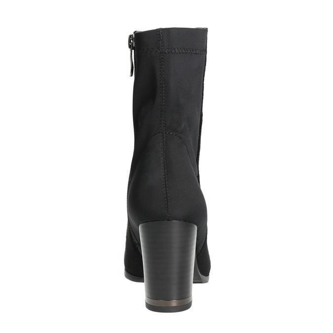 Kotníčkové kozačky na podpatku bata, černá, 699-6636 - 17
