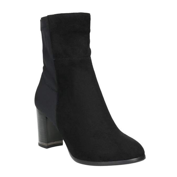 Kotníčkové kozačky na podpatku bata, černá, 699-6636 - 13