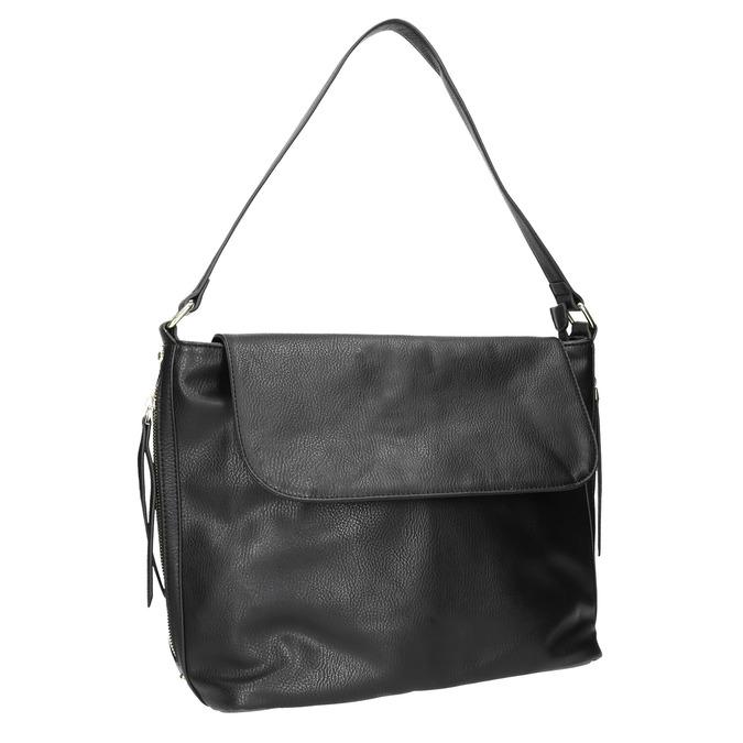 Černá kabelka s klopou bata, černá, 961-6751 - 13
