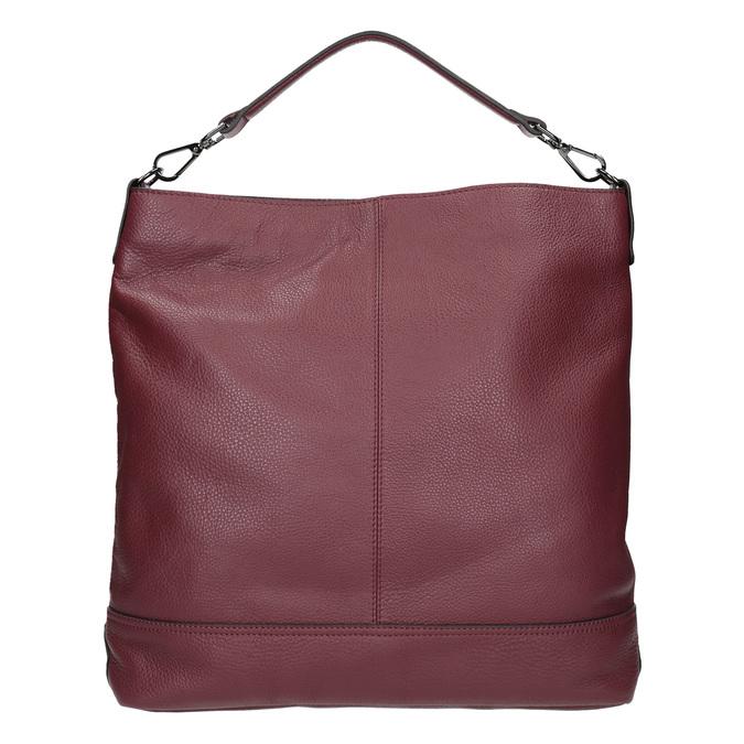 Kožená kabelka v Hobo stylu bata, červená, 964-5261 - 16