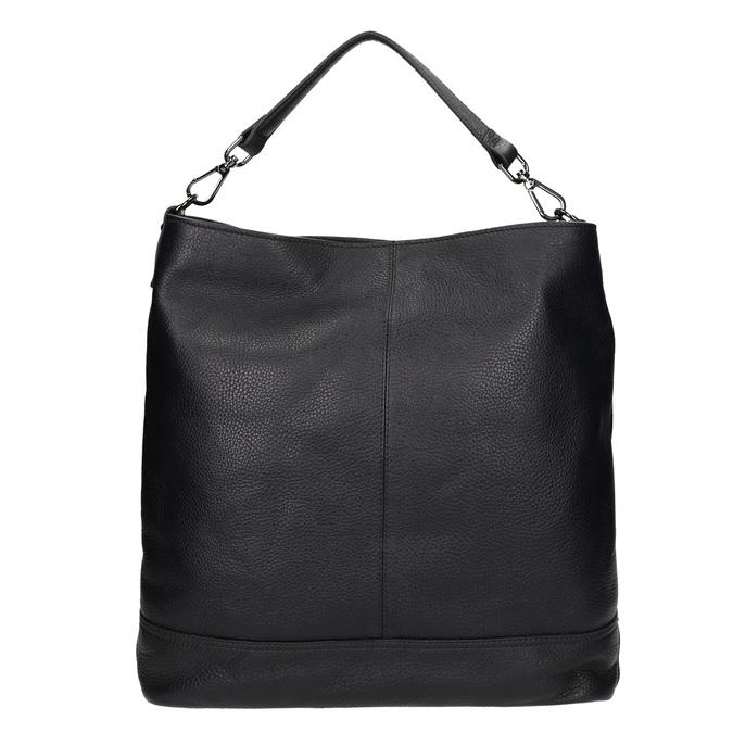 Kožená černá Hobo kabelka bata, černá, 964-6261 - 16
