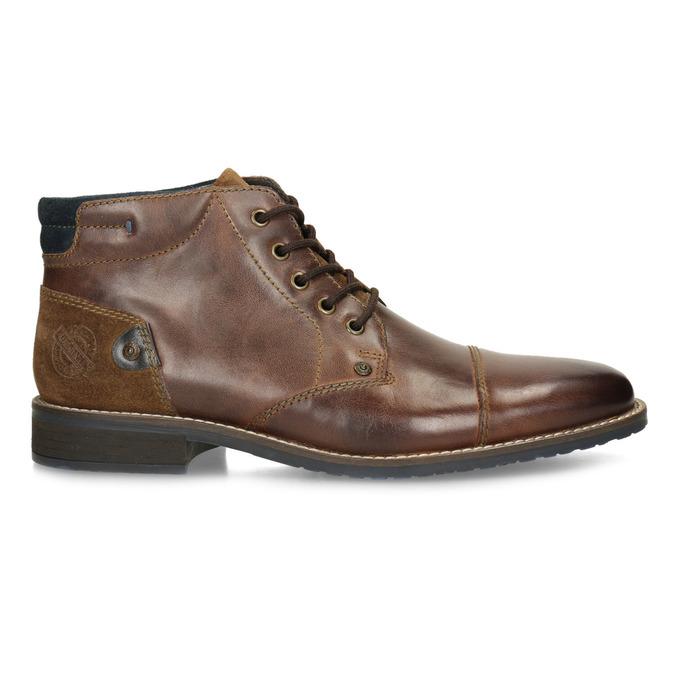 Pánská kožená kotníková obuv bata, hnědá, 826-3611 - 19